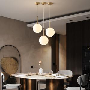 design lumineux pendentif chevet chambre nordique moderne et minimaliste cuivre pleine personnalité créative lumières modernes pendentif pour la vie