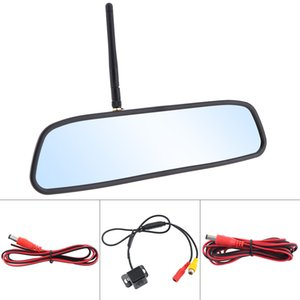 12V 4.3 Inch HD Wireless Car Rearview Mirror Monitor Auto Parking System with Rear View Reverse Camera Built-in Antenna CMO_52R