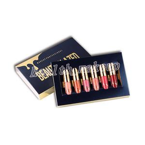 Высочайшее качество самобытной красоты глазурованной Gold Cosmetics Birthday Edition, 6шт Набор LipGloss Косметика Matte Liquid Помада Блеск для губ Gloss Kit