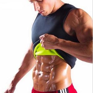 Dünne Weste Männer Unterhemd ärmellos Unterwäsche Thermal-Shirt Neopren Body Shaper Bauch Fett Singlet Bodysuit Mens Bodybuilding