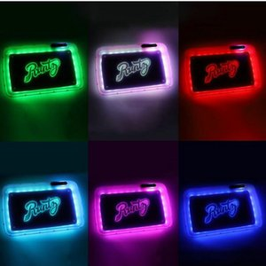 Cookies Runtz Glow In The Dark Rolling Tray Light Up Serving Tray LED Rolling For Smoke Glow Tray Winding Equipment Winding Machines bozih