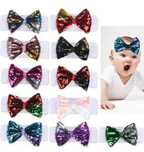 Le neonate accessori per capelli Jojo Siwa Archi 5 pollici 11 Colori Paillettes JOJO archi dei capelli con la fascia elastica SS278