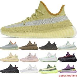 2020 Kanye West Cinder Earth Running Shoes Yecheil Yeezreel Yeshaya Cloud White Black Static Reflective Designer Mens Sneakers Size 36-47