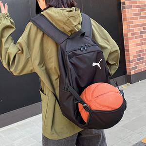 2020 Unisex Damen Herren Teenager Studenten-Schulter-Beutel-Rucksack-Paket Schwarz Farbe Basketball All-Matching Schoolbag QS B103928Z