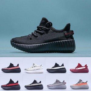 enfants Chaussures enfants Kanye West V2 coureur de vague Fille Chaussures de course pour bébé Tout-petit garçon Entraîneur Chaussures enfants Chaussures Noir Rouge 25 ~ 35