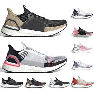 Adidas avec chaussettes gratuites 2019 Ultra boost 5.0 Chaussures de course Ultraboost Clear Brown Active Orange noir rose hommes femmes taille de formateur de sport sneake