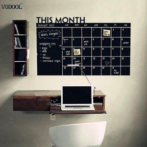 Tableau noir mois calendrier calendrier planificateur autocollants tableau autocollants outil de l'éducation pour enfant papeterie cadeau école fournitures de bureau