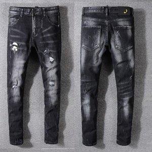 2020 Mens Designer Jeans Men Hip-Hop Biker Jeans Striped Cotton Denim Military style Men Jean motorcycle mens designer joggers