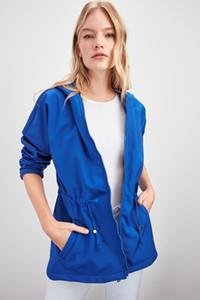 Trendyol Hooded Mafsallı Büzgülü Tüplü Kumaş Coat TWOAW20MO0045 T191023
