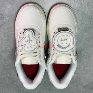 Forças de alta qualidade x Travis homens mulheres brancas SCOTTs skate sapatos 3 M refletem moda Casual Sneakers tamanho 36-45