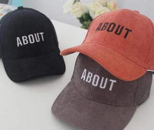 Cap Carta espesado pana béisbol otoño y el invierno nuevos niños Sobre Cornisa sol y el frío del sombrero