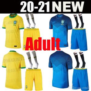 Kit per adulti 20 21 American Cup Brasile maglia da calcio G.JESUS 2020 2021 COUTINHO FIRMINO MARCELO uomini giovani Brasil calcio maglie Camicia