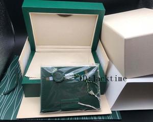 İyi Kalite Koyu Yeşil İzle Kutusu Hediye Kutusu İçin Saatler Kitapçığı 116610 126710 Kart Etiketler GMT Kağıtlar yılında İngiliz İsviçre Saatleri Kutular