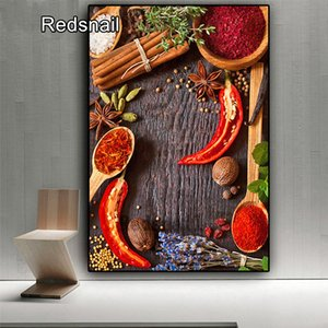 5D DIY diamond painting new Grain spice pepper spoon full square mosaic diamond rhinestone embroidery cross stitch kitchen TT220
