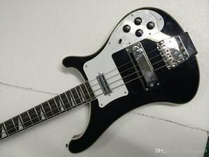 Горячая черная 4-струнная электрическая бас-гитара, 4004 через шею бас-гитара black140610-0801 производители на заказ