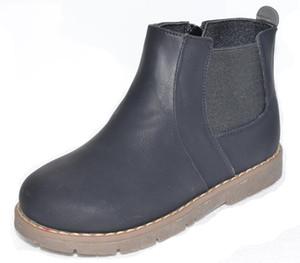 Новенький! Детская обувь мальчики Детская обувь сапоги Chaussure Menino Sapato черный ботинок для осень весна SandQ Baby Hard Toeheel нескользящий