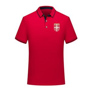 2020 sırbistan milli takım Polo Shirt Futbol Kısa Kollu polos Moda Spor eğitimi Polos Futbol Futbol Tişört Jersey Erkekler Polos