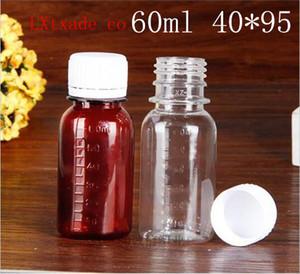 Frete grátis 60ml limpar Brown plástico PET A calibração Garrafa Soup Essence Comprimido Pó vazia Cosmetic Container
