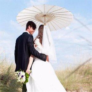 2020 bridal wedding parasols White paper umbrellas Chinese mini craft umbrella 4 Diameter:20,30,40,60cm wedding umbrellas for wholesale
