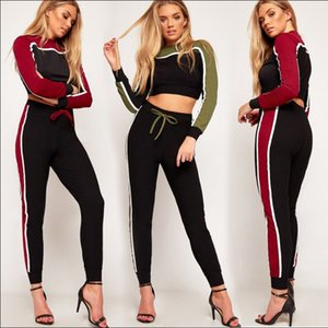 Europe and the United States high-end women's wear 2020 spring new knitted cotton sports leisure suit women's wear nx168