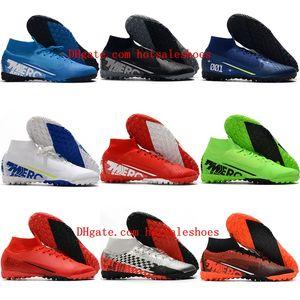 2020 erkek erkek çim futbol ayakkabıları Mercurial Superfly 7 Elite MDS TF cr7 futbol ayakkabıları çocuk kadın futbol koç boynuzu boyutu 35-45