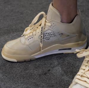 2020 Sortie Off authentique Blanc 4 Voile SP WMNS Déviation BLM Collecte de fonds Homme Femme Chaussures de basket-Muslin Noir Baskets sport Chaussures de sport