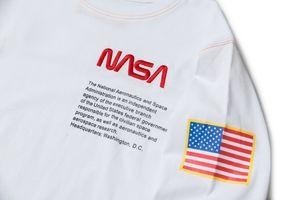 Moda-NAAA X T Shirt Beyaz Kapalı Yapraklar Pamuk Hip Hop Crewneck Lüks Klasik Fa Turtleneck Uzun Kollu Tişört Erkekler Bezi