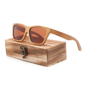 Luxary-BerWer 편광 태양 안경 복고 남성과 여성 선물로 친구를위한 케이스와 럭셔리 수제 대나무 선글라스 Dropshipping