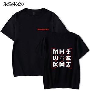 Maniche corte Logo maglietta VAGROVSY Kpop MONSTA X Nuovo Donna Uomo di Hip Hop in cotone T-shirt Estate O-Collo MONSTA-X Camiseta