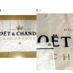 Moet Chandon 3 * 5 ft Of Bayrak (90cm * 150cm) Polyester Bayrak Banner Dekorasyon Uçan Ev Bahçe Bayrak Bayram Hediyeleri