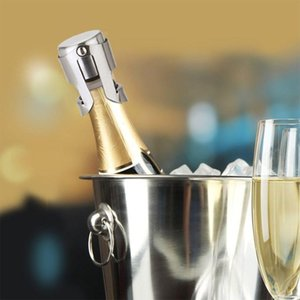 Aço inoxidável rolhas de vinho Vacuum Wine Sealed Bottle Stoppers plug pressiona o tipo Champagne Cap Tampa StorageT2I5645