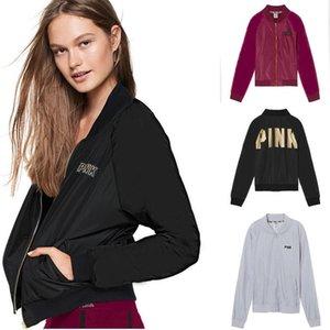 Femmes Zip Up rembourré Bomber Jacket souple Fermeture à glissière manteau de short outwear chandail Veste Tops Chemisier Recouvrir Tops Outwear