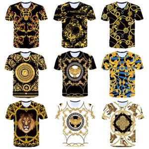 Erkek Tişörtleri Medusa Desen Avrupa ve Amerika Yüksek kaliteli baskı Erkekler Kadınlar Tişörtlü Başkanı Orada Medusa Etiket Boyut M-3XL