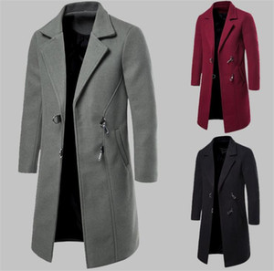 Automne Mens Designer Manteaux À la Mode Cou Crochet et Oeil Vêtements Vêtements Casual Hommes Designer Longs Manteaux