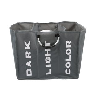 Foldable Dirty Laundry Basket Organizer Collapsible Three Grid Home Laundry Hamper Sorter Dirty Clothes Storage Basket