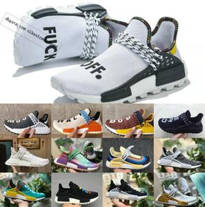 YENI İnsan Yarış NMDce Pharrell Williams erkekler kadınlar Spor tasarımcısı Ayakkabı kapalı Siyah Beyaz Gri primeknit PK koşucu XR1 R1 R2 Sneaker ayakkabı