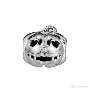 2018 가을 925 스털링 실버 주얼리 Sweet Pumpkin Charm Beads는 여성용 쥬얼리 제작 판도라 팔찌 목걸이에 딱 맞습니다.