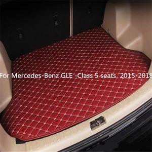 For Mercedes-Benz GLE -Class 5 seats 2015-2018year s Car Anti-skid Trunk Mat Waterproof Leather Carpet Car Trunk Mat Flat Pad
