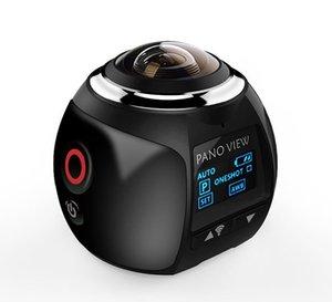360 ação da câmera Wifi4K Mini Panorâmica CameraUltra HD Panorama Camera 360 Degree Sport Driving VR Camera
