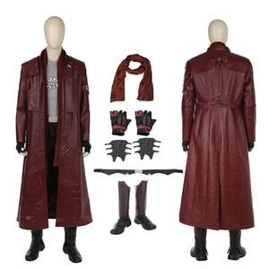 Galaxy Vol Yıldız Rab Kostüm Koruyucular. 2 Cosplay Peter Quill Tam Set Cadılar Bayramı Custom Made