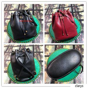 Best Quality 2020 GUCCCI Re Belle Medium Bucket Bag 550189 Black Leather Backpack Size:27*31*13CM