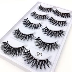 5pairs set False EyeLashes 5 Pairs 3D Natural Long Fake Eyelashes G807 Handmade Makeup Tools Accessories 100pcs with dhl free shipping