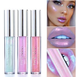 Nuovo Liquid Crystal Glow Lip Gloss Laser Olografico Lip Tattoo Lipstick Mermaid Pigment Glitter Lipgloss Lip Plumper Gloss Makeup