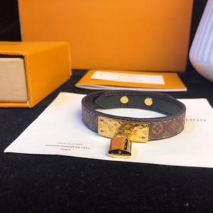 Top-Designer-Armband Schmuck Frauen Armbänder Qualitäts-Monogramm Vintage Leder Mensarmbänder Zubehör mit Kasten