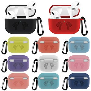 For Airpods Pro Case with Keychain Luxury Cover for Apple Air Pods Pro Accessories for Earpods Arpods Eartips Earpads Coque DHL shipping