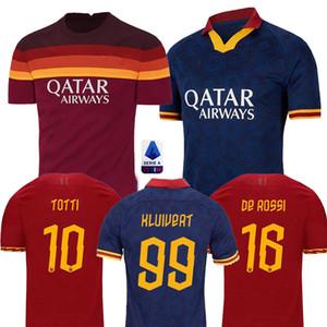 2020 DE ROSSI DZEKO Zaniolo camisa de futebol roma 2020 TOTTI PEROTTI camisa 20 camisa 21 de futebol roma maillot de pé Homens Crianças define uniformes