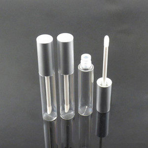 Dudak Parlatıcı Şişe Dudak Yağı Konteyner Lipgloss Vial Siyah Gümüş Cap EEA1555 ile Yuvarlak Dudak Parlatıcı Tüp Ambalaj boşalt boşalt 10ml