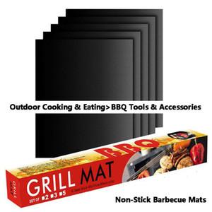 BBQ Grill Mat Durable antiaderente Mat Churrasco 40 * 33 centímetros Folhas de cozinha Forno churrasco ao ar livre Cozinhar Ferramenta