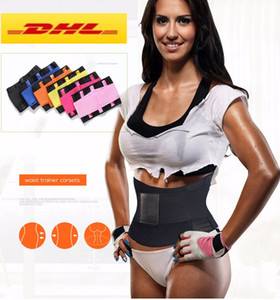 DHL UPS Stock Plus Size Best Waist Trainer for women Sauna Sweat Thermo Cincher Corset Yoga Sport Shaper Belt Slim Workout Waist SuppoRT