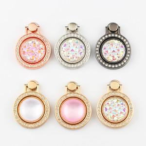 새로운 유니버설 블 링 다이아몬드 손가락 게으른 반지 전화 홀더 360도 금속 스탠드 독특한 패션 스탠드 럭셔리 라운드 그립 삼성 아이폰에 대한